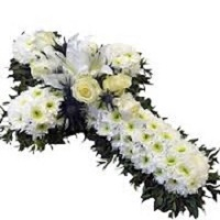 Cross floral wreath